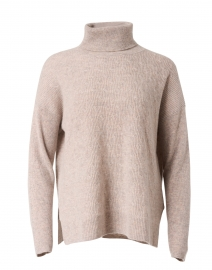 Multibeige Wool and Cashmere Cable Sweater
