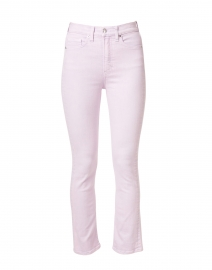 Carly Lavender High Rise Stretch Denim Flare Jean