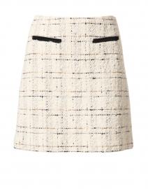 Silvia Cream and Black Tweed Skirt