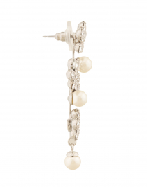 Jennifer Behr - Aria Crystal Flower and Pearl Drop Earring