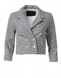 Vigo Black and White Check Stretch Cotton Jacket