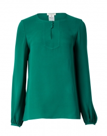 Kaden Green Silk Blouse