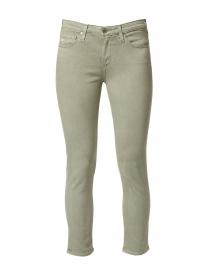 Prima Crop Sage Green Stretch Sateen Cigarette Jean