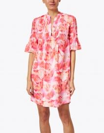120% Lino - Orange Flower Printed Linen Dress
