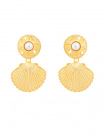 Gold Shell Drop Earrings