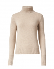 Blush Beige Cashmere Turtleneck Sweater