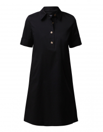 Conroy Black Stretch Cotton Shirt Dress