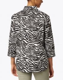 Hinson Wu - Halsey Black and White Zebra Print Linen Shirt