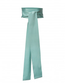 Mint Green Wide Satin Ribbed Belt