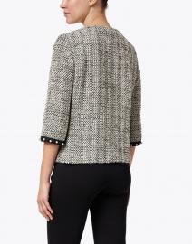 Vilagallo - Monica Black and White Lurex Tweed Jacket