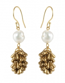 Gilden Freshwater Pearl and Gold Drop Earring