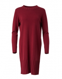 Dark Red Cashmere Dress