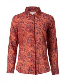 Dora Red and Orange Paisley Print Cotton Shirt