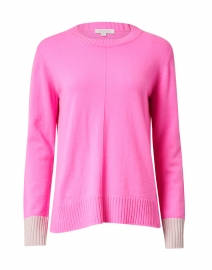 Rosette Pink with Birch Grey Cashmere Sweater