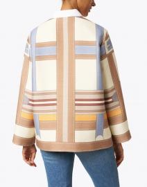 Rani Arabella - Beige Saddle Printed Wool Jacket