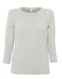 Heather Grey Crew Neck Cotton Sweater