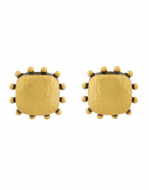 SoHo Mixed Metal Gold Clip-On Earrings