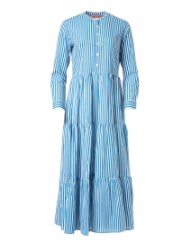 Playa Blue Stripe Cotton Voile Dress