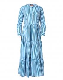 Playa Blue Stripe Cotton Voile Dress