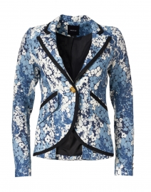 Blue Floral Linen Blazer