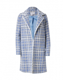 Ete Blue and White Check Tweed Jacket