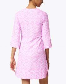 Jude Connally - Megan Pink Diamond Ikat Print Dress