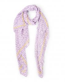 Lavender Geo Printed Silk Scarf