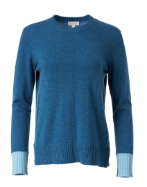 Teal and Light Blue Cashmere Sweater