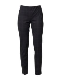 Black and Red Check Pattern Pull-On Pant