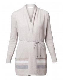 Beige Wool Silk Cashmere Cardigan