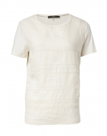 Gessy Ivory Stretch Cotton Eyelet Top