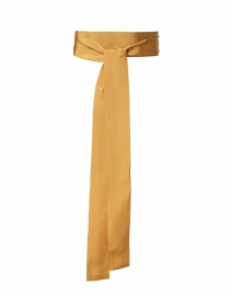 Golden Yellow Wide Satin Ribbed Belt