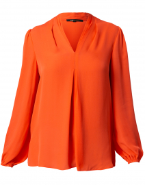 Bella Orange Silk Blouse