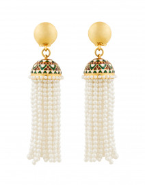 Mosaic Tassel Earrings
