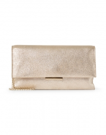 Tab Cappucino Sparkle Suede Clutch