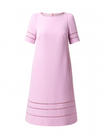 Pink Shift Dress with Fagoting Detail