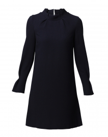 Elodie Navy Crepe Wool Tunic Dress