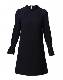 Elodie Navy Crepe Wool Tunic Dress