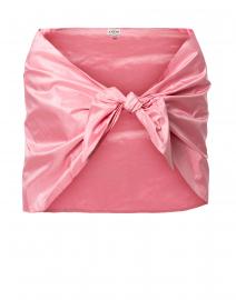 Pink Silk Taffeta Shawl