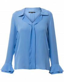 Maisie Sky Blue Silk Blouse