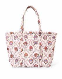 Avery Ivory Bloom Floral Printed Quilted Tote Bag