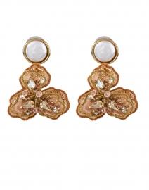 Sasha Gold and Pearl Drop Earrings