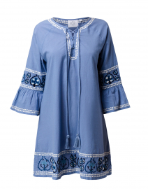 Palermo Blue Laced Embroidered Dress