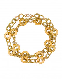 Gold Knotted Chain Link Necklace