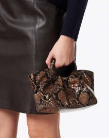 DeMellier - Mini Los Angeles Brown Snake Effect Bag