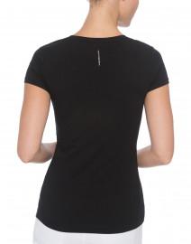 Escada - Ebasica Black Stretch Cotton Top with Open Trim