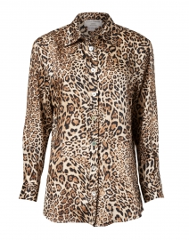 Camel and Black Leopard Printed Blouse