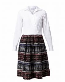 Elenat White and Black Tweed Shirt Dress