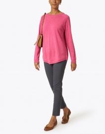 Kinross - Berry Pink Cashmere Sweatshirt