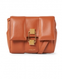 Mini Alexandria Deep Tan Smooth Leather Crossbody Bag